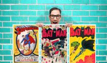 Old Batman Superman DC Comic Collection of 3 Art Work - Wall Art Print Poster Pick A Size -  Comic Art Geekery
